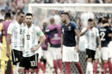 Argentina cayó 4-3 ante Francia, quedó eliminada en los octavos de final. Foto: FIFA.