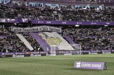 Tifo en el Fondo Norte en el partido contra el Sevilla/ foto RealValladolid.es