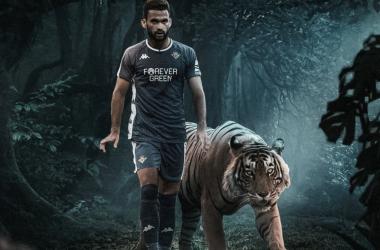 William José, apodado el Tigre de Alagoas en un diseño alegórico. Foto y diseño : @nadamasquebetis