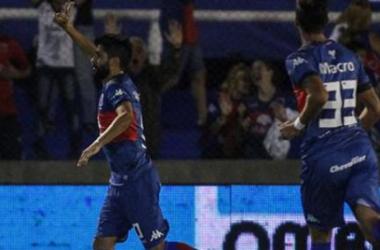 Lucas Wilchez en festejo de gol (vía: Tigre Oficial)