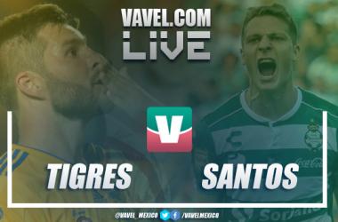 Resultado y goles del Tigres 2-1 Santos de la Liga MX 2019