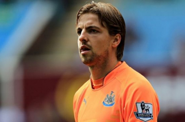 The Newcastle goalkeeper Tim Krul might be joining up his teammates to face Leicester City next Saturday (Photo: David Davies/PA)