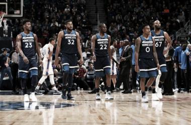 El quinteto de Minnesota que ilusiona a toda una ciudad. Foto: NBA