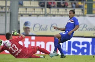 Sampdoria - Frosinone in Serie A 2015/16: 2-0, la sblocca Fernando, poi Quagliarella