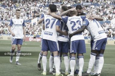 Los jugadores del Zaragoza celebrando un gol | Real Zaragoza