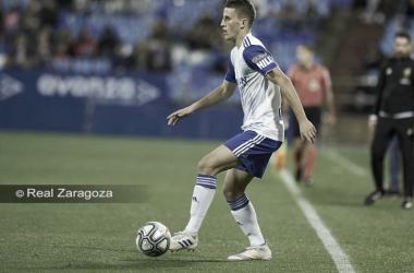 Nieto durante un encuentro disputado en La Romareda. // Foto: Web Real Zaragoza