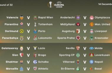 Ligue Europa : Les résultats du tirage au sort des 16e de finale