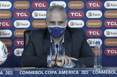 Tite após Brasil 4 a 0 Peru (CBF / Reprodução)
