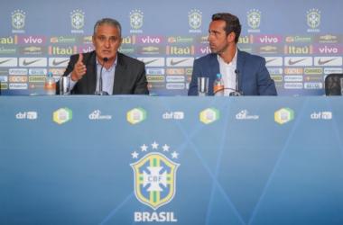 Brazil coach Tite and Sylvinho