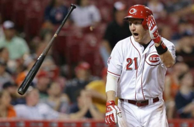 Todd Frazier reacts after crushing walk-off grand slam in the thirteenth inning of last night's contest versus Detroit. Photo courtesy of John Minchillo of AP Photo.