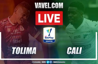Resumen Tolima vs Cali (3-0) en los cuartos de final (ida) por Liga BetPlay 2021-I
