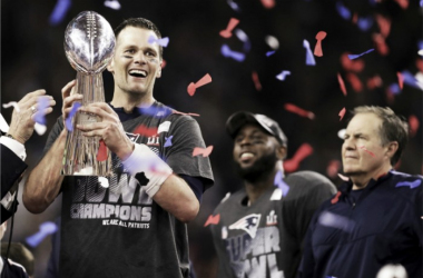 Tom Brady and the New England Patriots claimed their fifth Lombardi Trophy after coming back from a 28-3 deficit | Source: Darron Cummings - AP