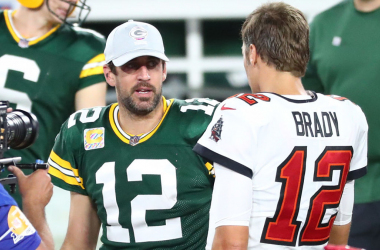 Future Hall of Fame quarterbacks face off today with a Superbowl berth on the line. Photo: USA Today