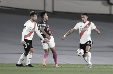 Lecanda y Peña Biafore, los últimos en debutar fue ante Independiente Santa Fe. (Foto: web)