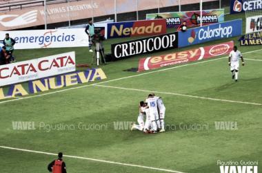 Festejo de gol / Foto: Agustina Cruciani VAVEL.com