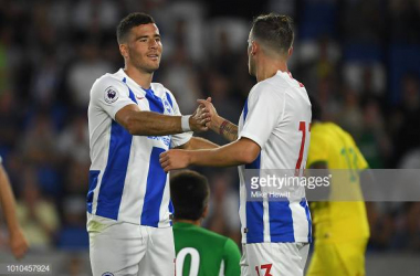 Hemed celebrating scoring in a pre-season friendly last season against FC Nantes. Image courtesy of Mike Hewitt on Getty Images.