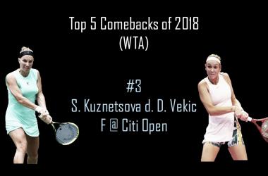 Svetlana Kuznetsova claimed her 18th career WTA title with a terrific comeback win over Donna Vekic in Washington | Edit: Don Han