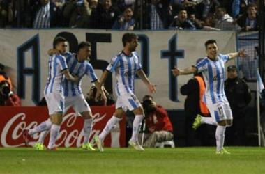 El Primer Grande festejando la victoria frente a Boca la fecha pasada | Foto: Canchallena.