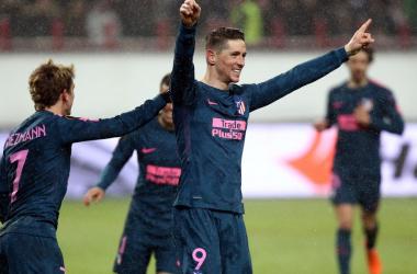El Atlético de Madrid congela Moscú con cinco goles