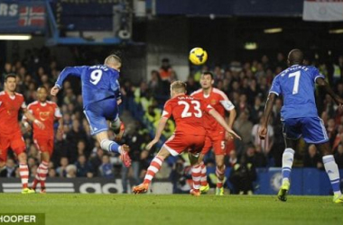 Torres goes close with a header in Chelsea's comeback against Southampton