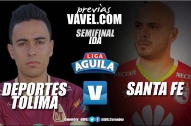 Tolima y Santa Fe disputarán, este miércoles, el juego de ida por la semifinal de la liga