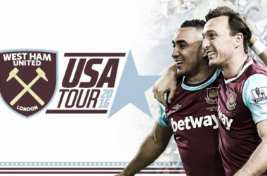 Above: West Ham will be taking part in a 11-day pre-season tour of America at the beginning of July | Photo: whufc.com