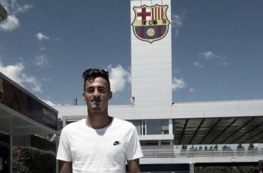 Jose Luis Trápaga en la Ciutat Esportiva. Foto: FC Barcelona
