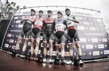 Trek-Segafredo, los vencedores de la Hammer Sprint | Fuente: Twitter - @VelonCC