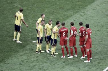 Southgatepreparó una jugada muy similar que se utiliza en el Básquet | Foto: Clarín