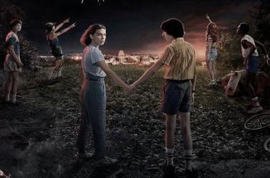 Afiche promocional tercera temporada de Stranger Things/ Fotografía de Reddit.