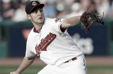 Bauer durante un encuentro con Cleveland Indians / Foto: Associated Press