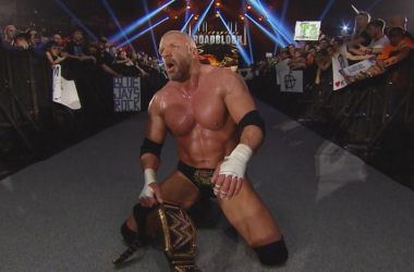 HHH walks into WrestleMania as champ. Photo:www.tensporots.com