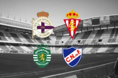 Los equipos participantes en el relanzamiento del Trofeo Teresa Herrera como cuadrangular. Foto: Inside Spanish Football.