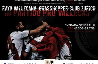 Información sobre el Trofeo. Fotografía: Rayo Vallecano S.A.D