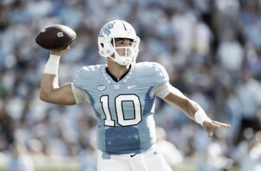 Mitch Trubisky narrowly holds onto the top quarterback spot before the combine | Streeter Lecka, Getting Images