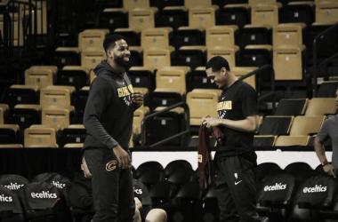 Tristan Thompson in allenamento. Fonte: Cleveland Cavaliers/Twitter