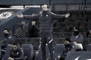 Thomas Tuchel en su primer partido como técnico blue. Foto: Premier League