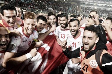 La selección de Tunez celebra su presencia en el Mundial. | Foto: FIFA.