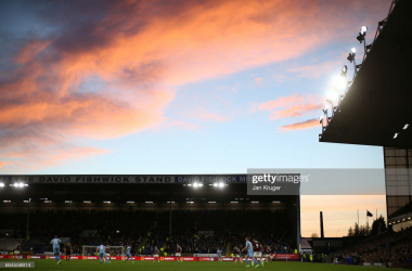BURNLEY, ENGLAND - APRIL 04: General view inside the stadium during the Premier League match between Burnley and Stoke City at Turf Moor on April 4, 2017 in Burnley, England. (Photo by Jan Kruger/Getty Images)