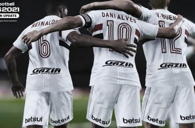 Konami confirma São Paulo no PES 2021
