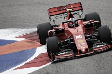 El Ferrari de Leclerc | Foto: Fórmula 1