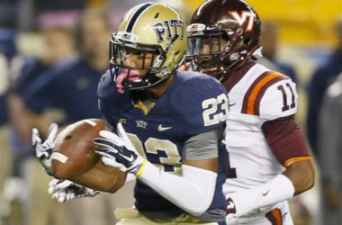 Tyler Boyd caught a 53 yard touchdown pass against the Hokies (Keith Srakocic / AP Photo)