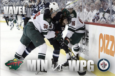 The Winnipeg Jets defeated the Minnesota Wild 3-2 in Game 1 of the Stanley Cup Playoffs. | Photo: Photomontage (VAVEL)