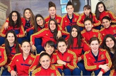 La selección española sub-19 viaja este viernes a Portugal. | Foto: facebook de Sandra Hernández.