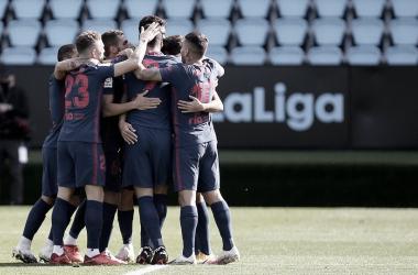 Pontarias de Suárez e Carrasco garantem triunfo do Atlético de Madrid diante do Celta de Vigo