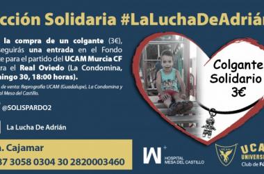 El UCAM Murcia CF se suma a #LaLuchaDeAdrián | Imagen: UCAM Murcia CF