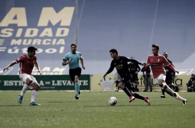 Julen Colinas, autor del gol universitario. Foto: UCAM Murcia CF.