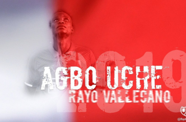 Bienvenido Uche al Rayo. Fotografía: Rayovallecano.es
