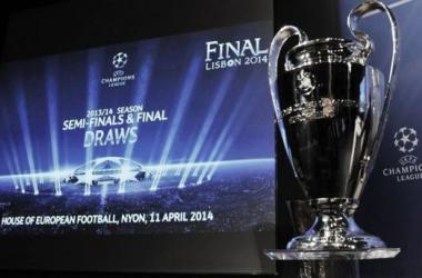Foto del Trofeo de la UEFA Champions League, esta mañana en Nyon. (uefa.com)