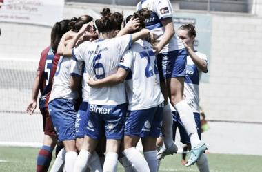 La UDG Tenerife alcanza las semifinales por primera vez en su corta historia. | Foto: Lalu R. Albarrán (FutFem).